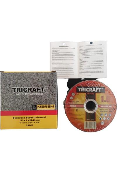 Trıcraft Inox Kesici TAŞ115X1,0X22MM - 25 Li Paket -