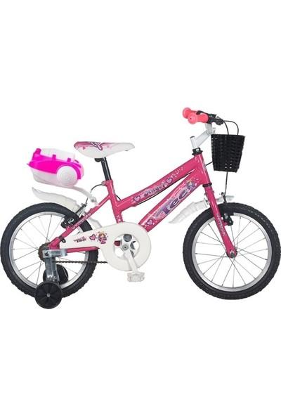 Ümit Bisiklet Ümit Tec 16 Jant Çocuk Bisikleti 3-4-5-6-8 Yaş Çocuk Bisikleti Pembe