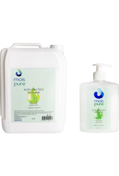 Mois 2'li Cilt Bakım Temizlik Seti - Aloe Vera Özlü Sıvı Sabun 5 Lt + 500 ml
