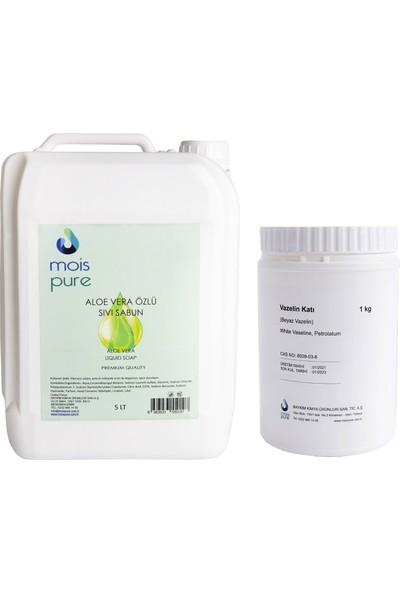 Mois Aloe Vera Özlü Sıvı Sabun 5 Lt + Saf Vazelin 1 kg