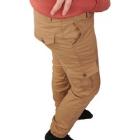 Fagetto Pantolon Çocuk Pantolon Erkek Kargo Cepli Paça Lastikli Beli Ayarlanabilir Lastik Komando