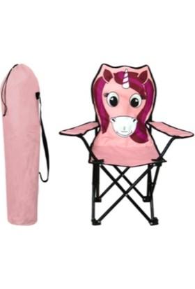 Touch Me Çocuk Kamp Sandalyesi Unıcorn Figürlü