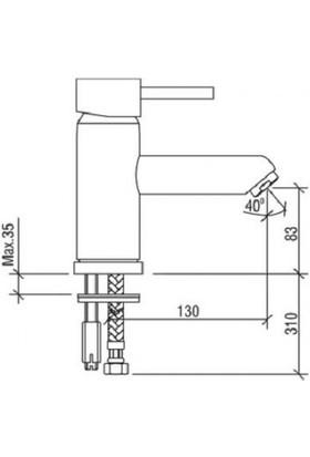 Nsk Ilıada Mıx Lavabo Bataryası 20111.02 US109