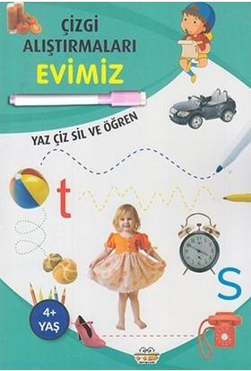 0-6 Yaş Yayınları Çizgi Alıştırmaları Evimiz (Yaz-Çiz-Sil ve Öğren) + Kalem