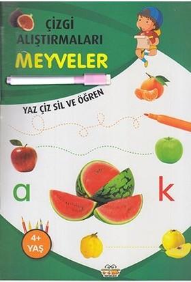 0-6 Yaş Yayınları Çizgi Alıştırmaları Meyveler (Yaz-Çiz-Sil ve Öğren) + Kalem