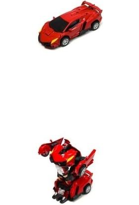 Vardem Çek Bırak 1:32 Dönüşebilen Robot - Araba (Otomatik Dönüşür) (Die - Cast) TIN-388-1D