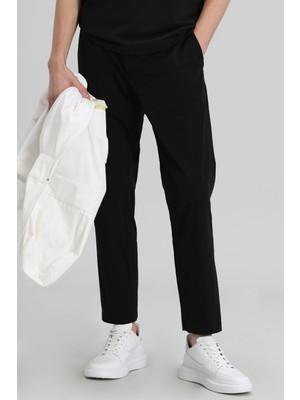 Lufian Manolo Spor Chino Pantolon Tailored Fit Siyah
