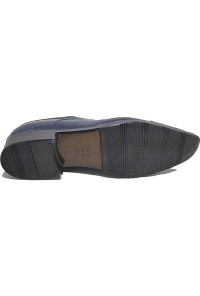 Budak Modern Bağcıklı Erkek Deri Klasik Ayakkabı - Lacivert - 40