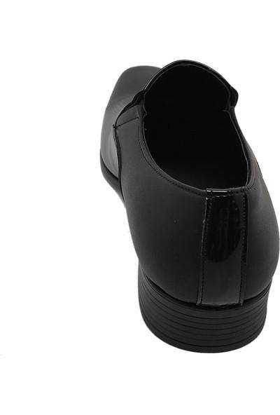 Erdal Erkek Rugan Deri Klasik Ayakkabı - Siyah - 40