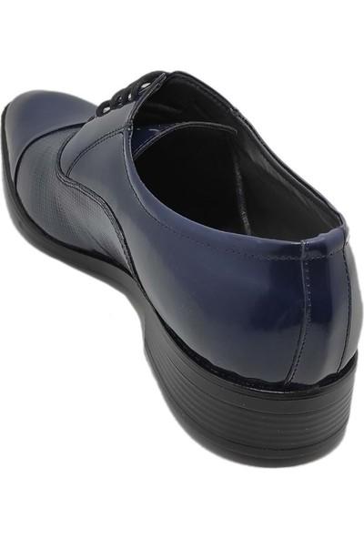 Budak Modern Bağcıklı Erkek Deri Klasik Ayakkabı - Lacivert - 43