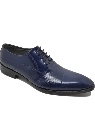 Budak Modern Bağcıklı Erkek Deri Klasik Ayakkabı - Lacivert - 44