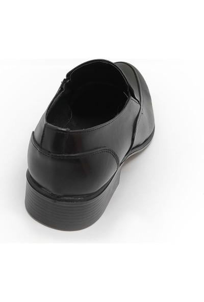 Budak 819 Erkek Deri Klasik Ayakkabı - Siyah - 43