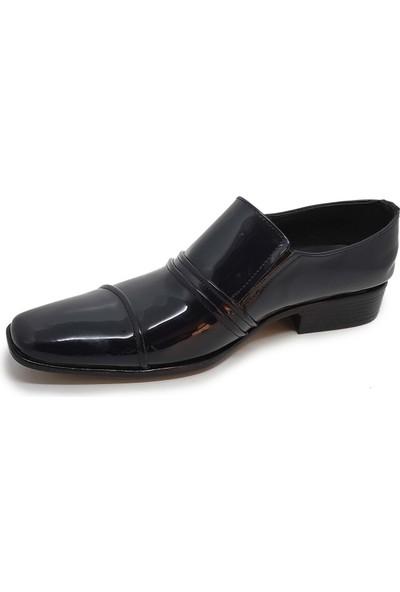 Budak Erkek Rugan Deri Klasik Ayakkabı - Lacivert - 41