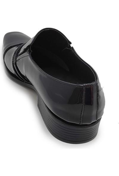 Budak Erkek Rugan Deri Klasik Ayakkabı - Lacivert - 44