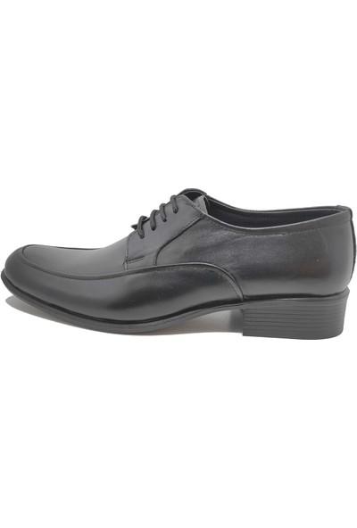 Budak Modern Bağcıklı Erkek Deri Klasik Ayakkabı - Siyah - 41