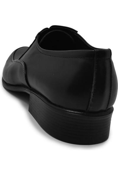 Budak Modern Bağcıklı Erkek Deri Klasik Ayakkabı - Siyah - 43