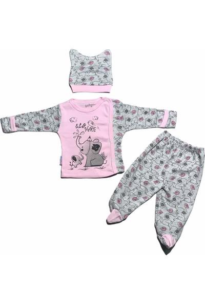 Bertoby Filli 3 'lü Kız Bebek Zıbın Takımı