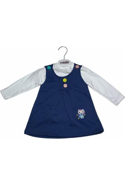 Mini Kids Cepli Kız Bebek Elbise