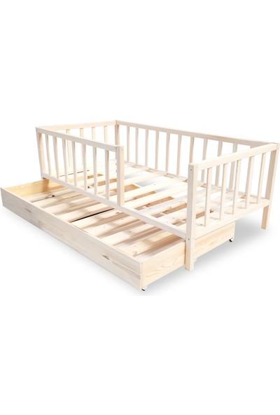 Ebatlandır DECO-6003 Montessori Çatısız Yavrulu Yatak