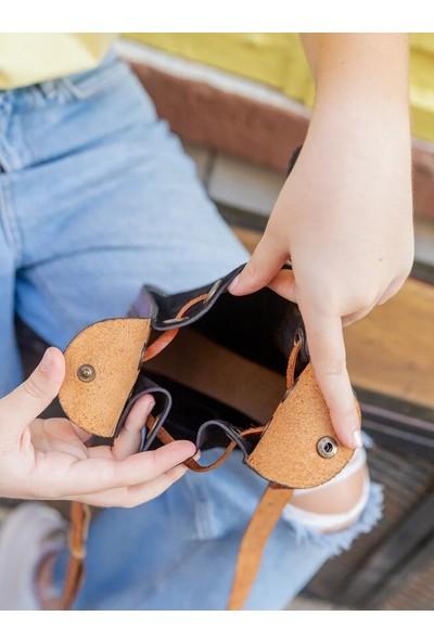 Volk Deri El Işi Kadın Omuz Çantası Mini Modeli En 17 Boy 20 Körük 7