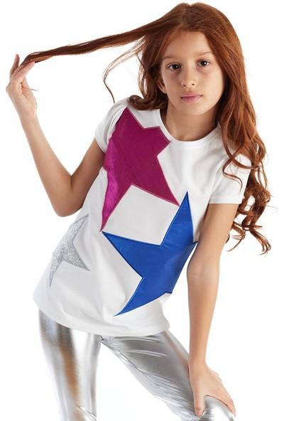 Colorinas Yıldız Patch Tshirt Kısa Kol