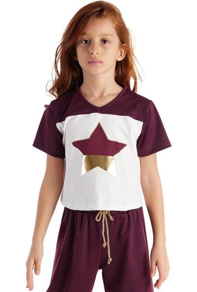 Colorinas Burgundy Star Foil Tshirt