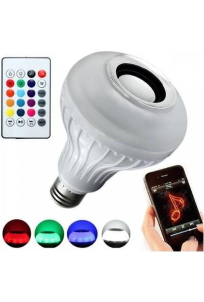 Sunika LED Müzik Ampul 12W Bluetooth Özelliği Vardır Kumandalı Ledli Müzik Ampul Sunıka Dl-09