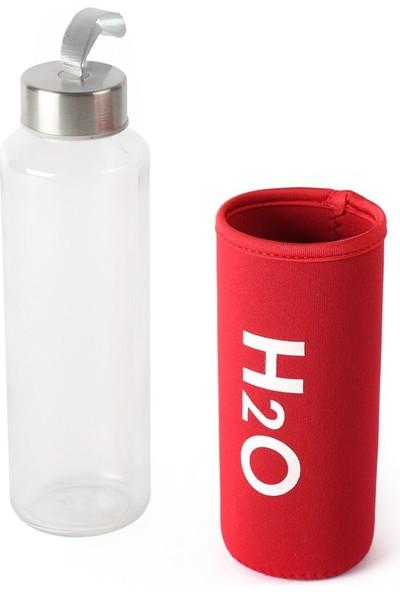 EWS Ew's Kırmızı Kılıflı Cam Matara 400 ml