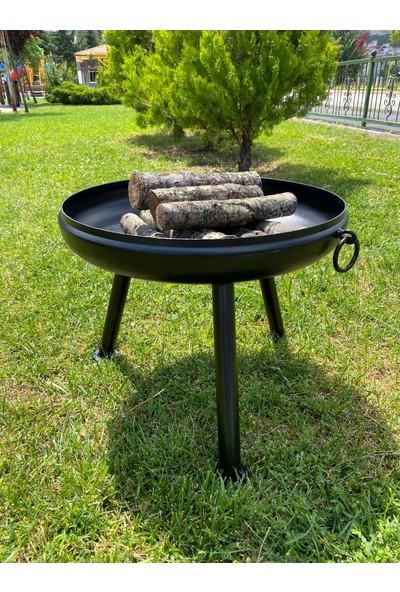 Karadağ Ateş Çanağı Bahçe Şöminesi Isıya Dayanıklı Özel Boya