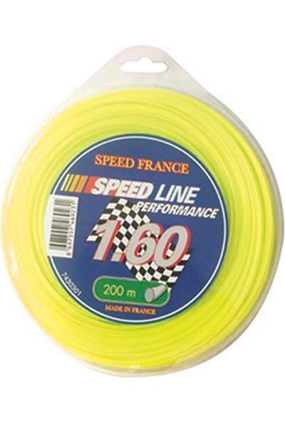 Speed France 7430411 Speedline Tırpan Misinası 3.3 mm 43 mt 6 Köşeli Sarı