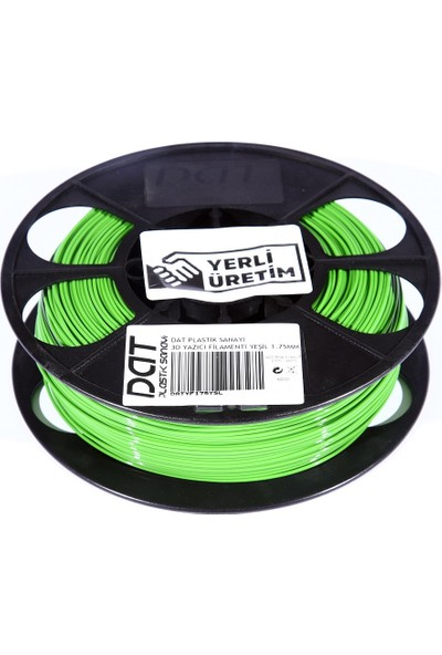 Dat Plastik Yerli Üretim Pla 3D Filament Yeşil 2.85MM