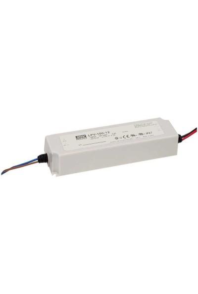 Meanwell LPV-100-24 100W 24V IP67 LED Sürücü
