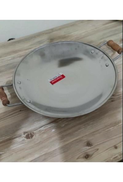 Üzüm Çelik Kavurma Sacı-Gözleme Tavası No :2 32 cm Krom Içerikli Paslanmaz Çelik