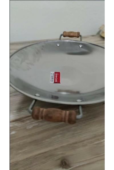 Üzüm Çelik Kavurma Sacı-Gözleme Tavası No :3 36 cm Krom Içerikli Paslanmaz Çelik