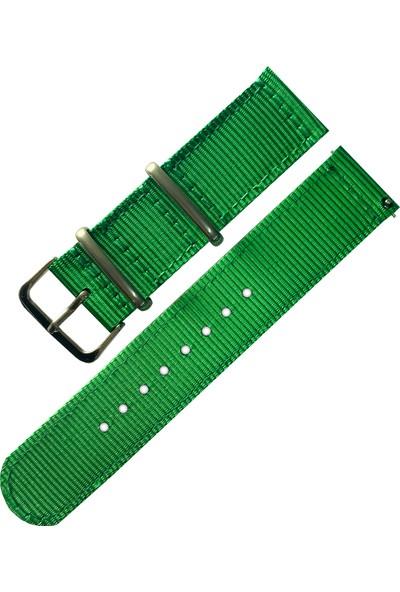 Daniel Wellington Saat Uyumlu Yeşil Akıllı Pimli Nato Kumaş Örme Hasır Saat Kordonu Kayışı