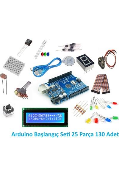 Maker Arduino Uno R3 Başlangıç Seti - 25 Parça 130 Adet