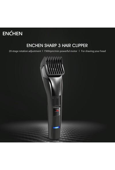 Enchen Sharp 3 Saç Kesme Makinesi USB Elektrikli (Yurt Dışından)