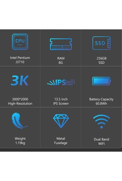 """KUU Yobook Intel Pentium J3710 8GB Windows 10 Pro 13.5"""" 256GB SSD Taşınabilir Bilgisayar (Yurt Dışından)"""