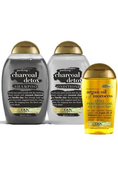 Organix Charcoal Detox Şampuan Seti