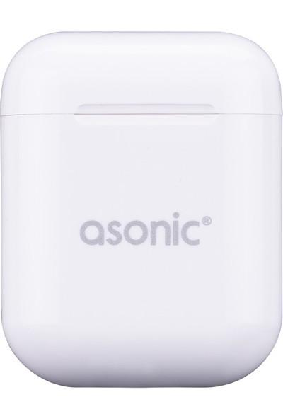 Asonic AS-TWS130 Beyaz Mobil Telefon Uyumlu Bluetooth Tws Airpods Mikrofonlu Kulaklık