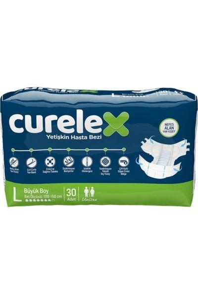 Curelex Hasta Bezi L Beden 30 Lu 4 Paket 120 Li Hasta Bezi