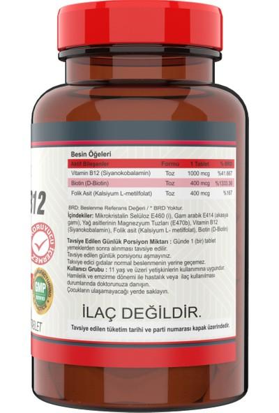 Vitamin B12 Folic Acid Biotin 1000 Mcg (3 Kutu) 120 Tablet