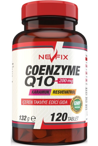 Coenzyme Q10 200 Mg Koenzim Resveratrol Karamuk 120 Tablet