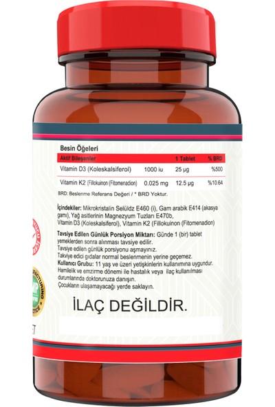 Vitamin D3-K2 (2 Kutu) 120 Tablet