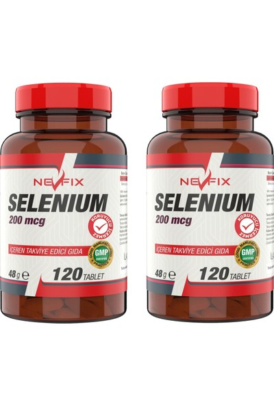 Selenyum 200 Mcg (2 KUTU)120 Tablet