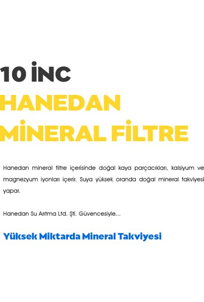 H-Max Takviyeli Mineral Filtre (Dirsekler Ile Beraber)