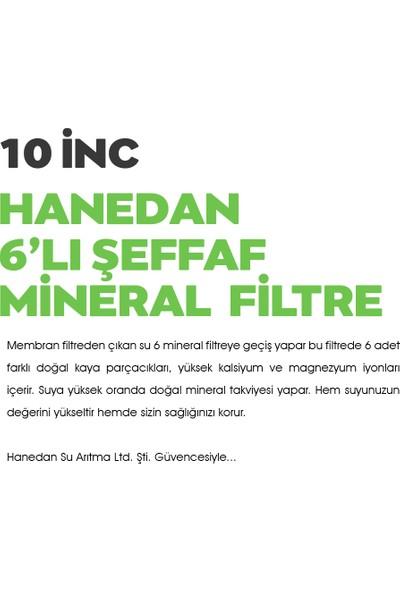 H-Max 6'lı Şeffaf Mineral Filtre (Dirsekler Ile Beraber)