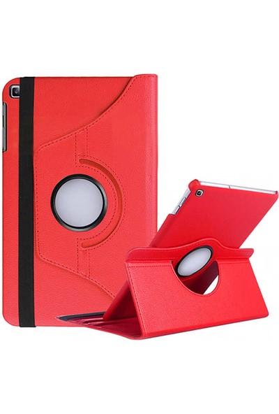 RedClick Samsung Galaxy Tab A 10.1 2019 T510 Standlı Dönebilen Tablet Kılıf, Kırmızı