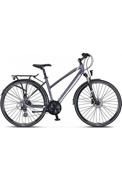 Mosso LEGARDA-2121-LSM-H-410-CT Bayan Şehir Bisikleti Hd 28 Jant 21 Vites Antrasıt/beyaz
