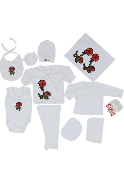 Concon Baby Zıbın Seti 678   Beyaz